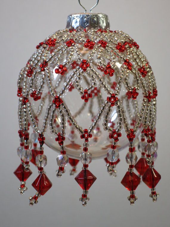 89. Beaded Ornament Cover by BeadingWolves on Etsy