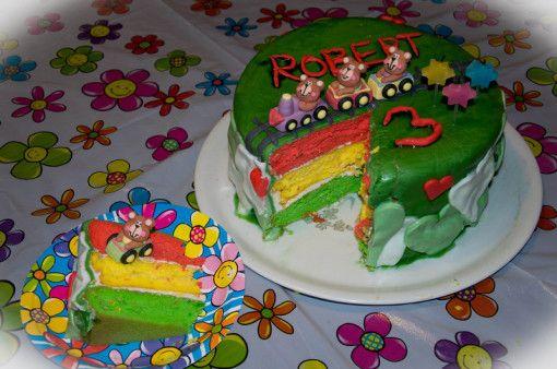 MamaA dekoruje...trójkolorowy tort