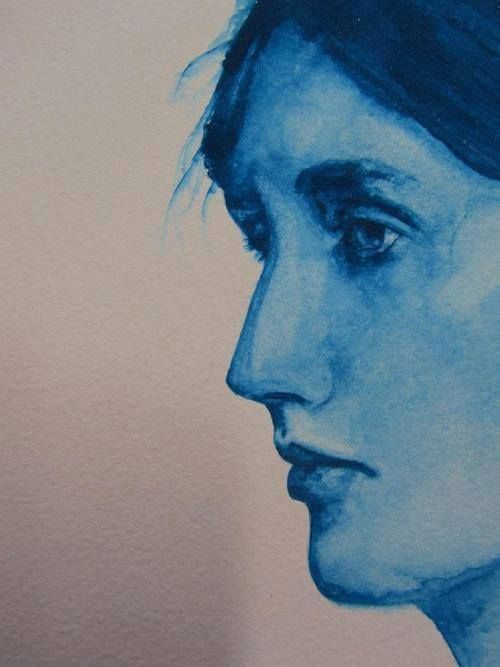 """""""To whom can I expose the urgency of my own passion?"""" ~ Virginia Woolf, The Waves, 1931 (Artist: Jordan Peers)"""