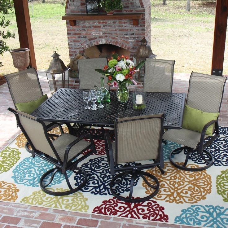 Casual, Simple And Relaxed, The Madison Bay Collection Combines Easy Going  Sling With Durable Aluminum That Makes This Patio Furniture Ideal For  Outdoor ...