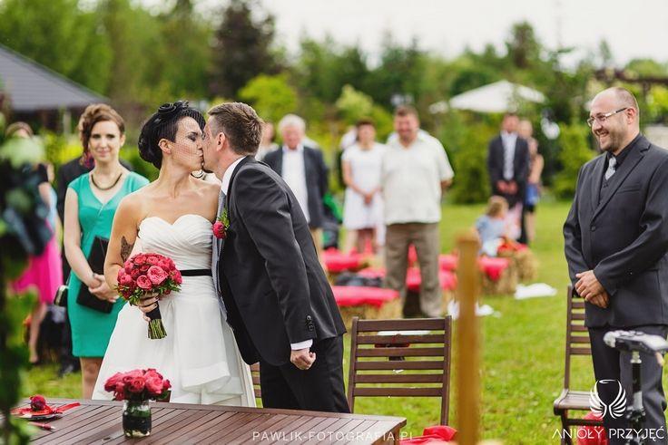 9. Rock Wedding,Outdoor ceremony / Rockowe wesele,Ceremonia w plenerze,Anioły Przyjęć