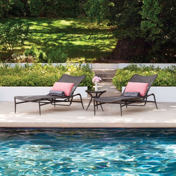Luxury Outdoor Chaise Lounges From The Biarritz Collection By Brown Jordan
