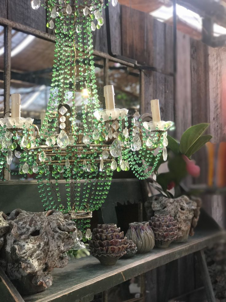 An Italian 19th century jade green glass
