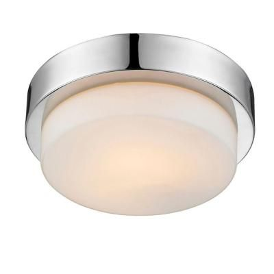 Maddox Collection 1-Light Chrome Flushmount-27009MPCH - The Home Depot