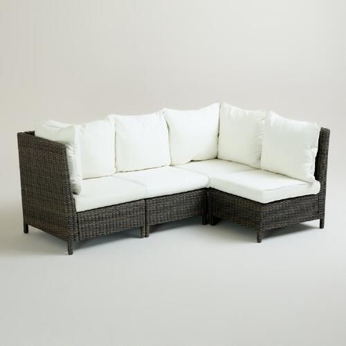 One of my favorite discoveries at WorldMarket.com: Solano Outdoor Sectional Collection