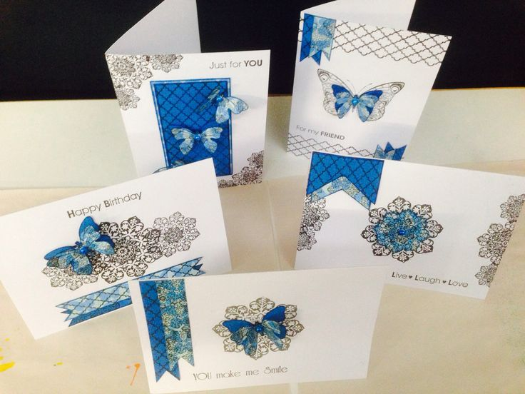 Moroccan Tiles stamps. Quick and easy cards!