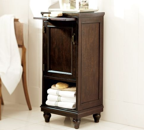 I need storage for the upstairs bathroom...this Pottery Barn cabinet might work