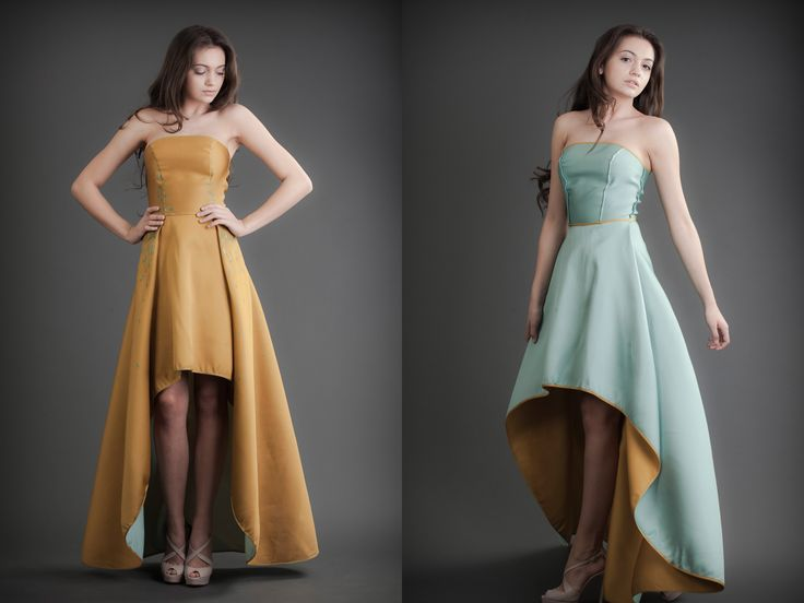 2 in 1 Dress - Mustard & Azure