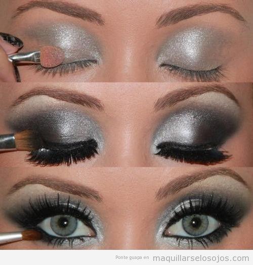 maquillaje-ojos-negro-plateado-paso-a-paso