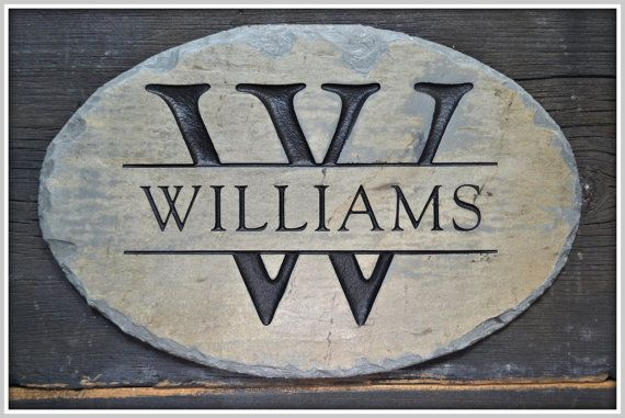 "MONOGRAM Name Plaque /CARVED Stone /Family Sign/ by TMichaelStudio, $64.99 Would love to add ""Established 2015"" to put above our front door"
