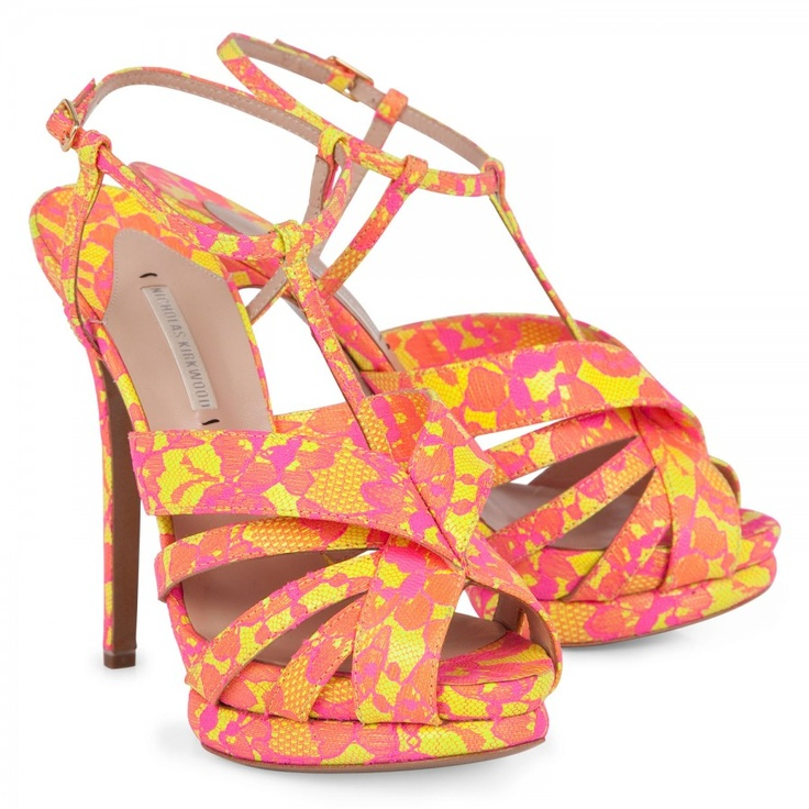 yellow lace sandals