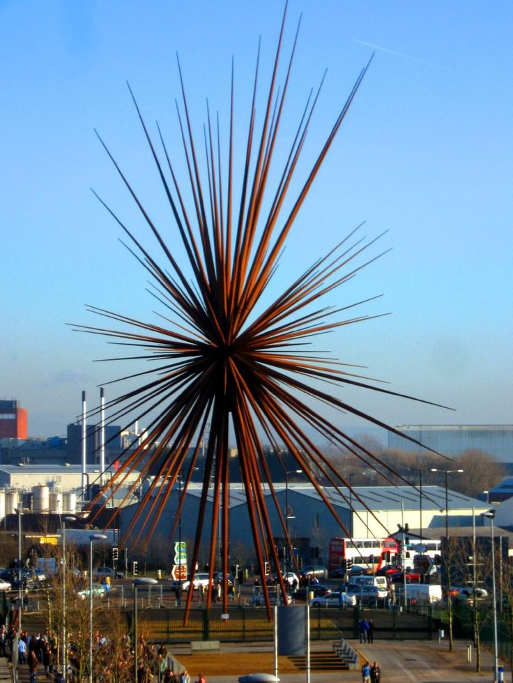 The B of the Bang sculpture in Manchester, I still miss it. This unique piece of art was placed outside of Manchester City's football stadium, it got removed due to Heath and safety.