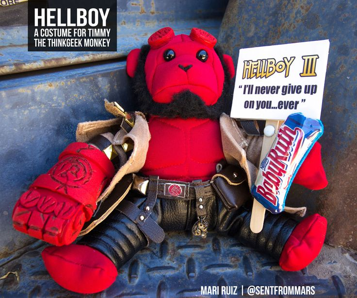 Hellboy Comic Con Costume (For Timmy the ThinkGeek Monkey)