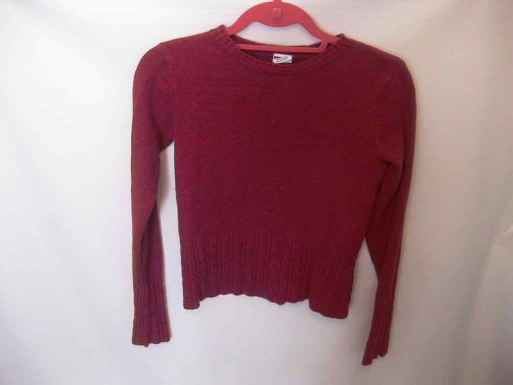 EUC Woman's Small Tommy Hilfiger Red Long Sleeve Sweater
