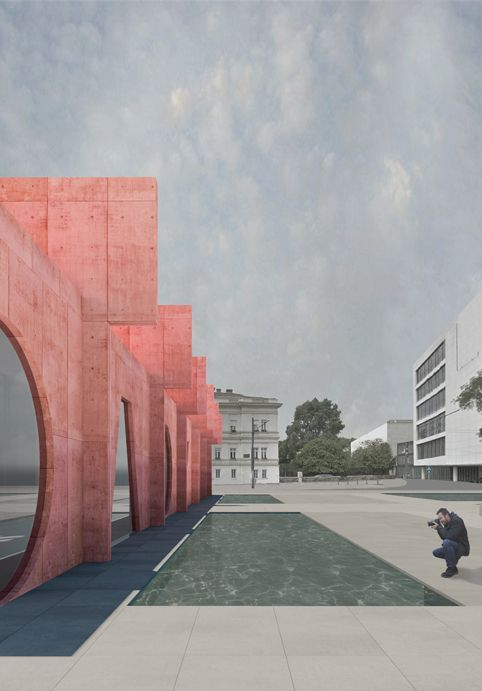 Competition Entry Proposes Colorful Duo of Museums for Budapest