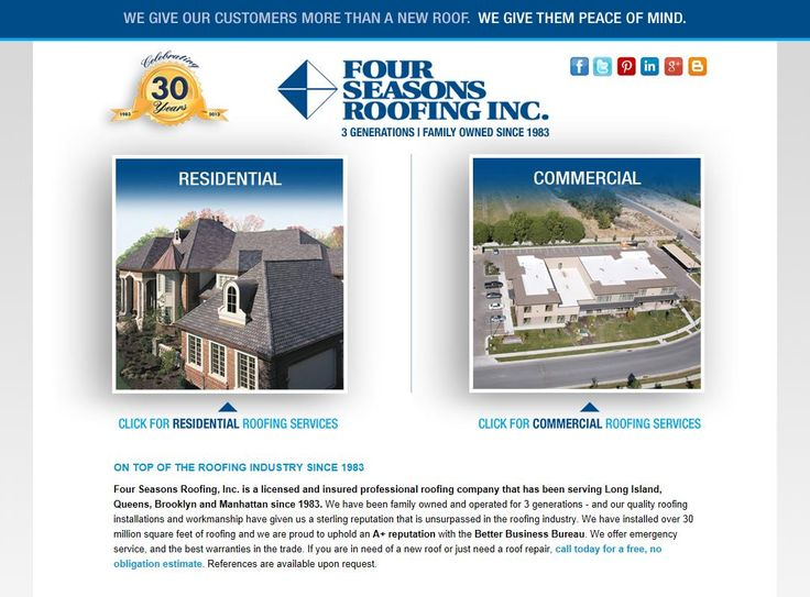 Four Seasons Roofing Inc. Launches New Website