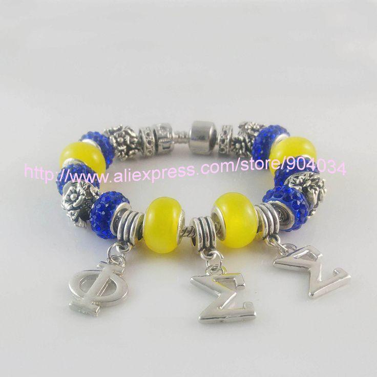 Newest  Phi Sigma Sigma  Sorority  Bracelet  PSS charm bead  bracelet Ornament Jewelry 5pcs free shipping