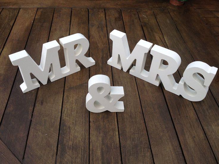 Luck and Luck Décoration spéciale mariage Lettres en bois MR & MRS: Amazon.fr: Cuisine & Maison