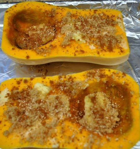 Roasted Butternut Squash with Cinnamon and Nutmeg