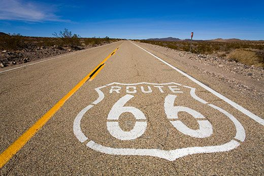 This iconic highway extended through California, Arizona, New Mexico, Texas, Oklahoma, Kansas, Missouri and Illinois.
