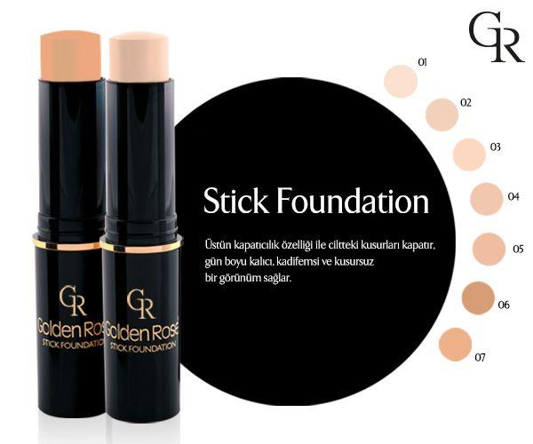 Stick Foundation üstün kapatıcı özelliği ile zor zamanlardaki kurtarıcın! Golden Rose Store'da! http://www.goldenrosestore.com.tr/stick-foundation.html