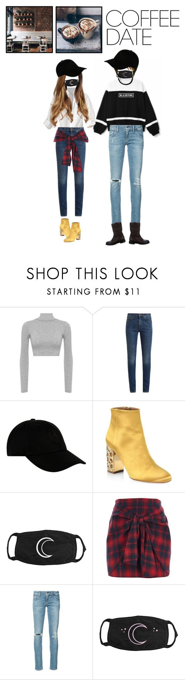 """""""Untitled #174"""" by shoylove-1 ❤ liked on Polyvore featuring WearAll, Yves Saint Laurent, STONE ISLAND, Aquazzura, River Island, Citizens of Humanity, Gucci, Coffee Shop and CoffeeDate"""