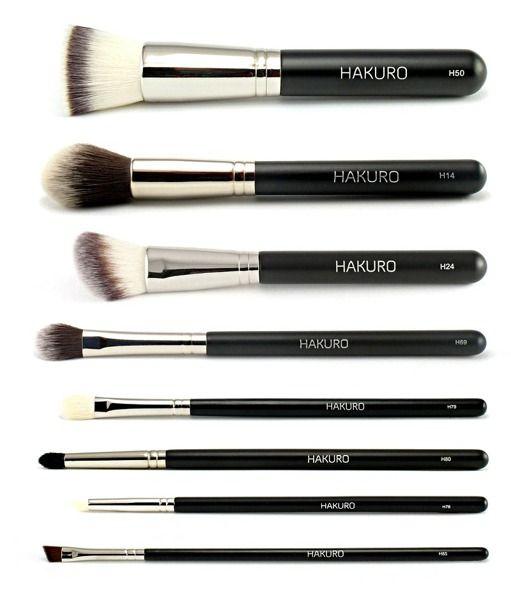 Zestaw zaawansowany do makijażu twarzy i oczu | Zestawy pędzli HAKURO | Oficjalny sklep HAKURO