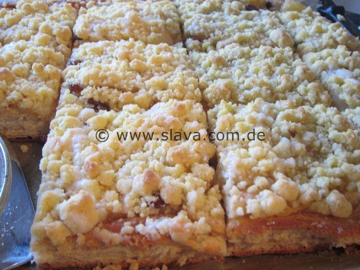 Slava's Blitz – Apfel – Streuselkuchen « kochen & backen leicht gemacht mit Schritt für Schritt Bilder von & mit Slava