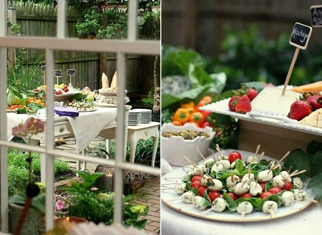 nice ideas for a chic garden party
