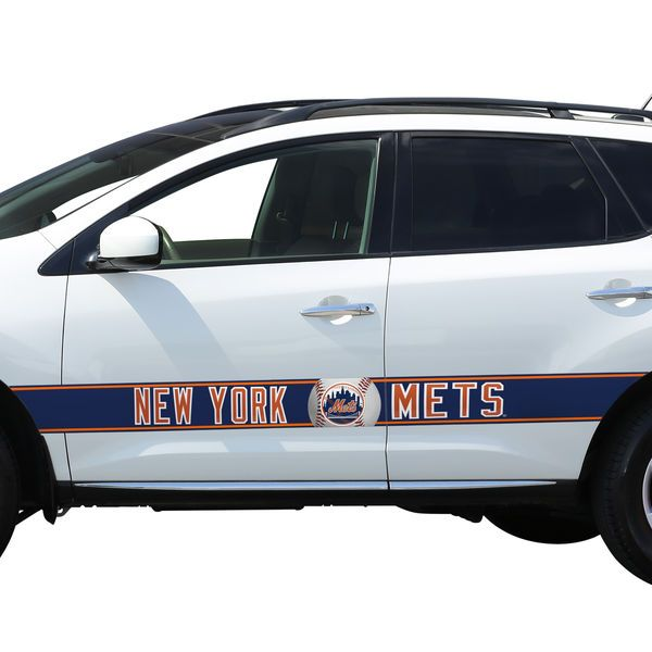 New York Mets Team Ball Racing Stripe Car Decals - $199.99