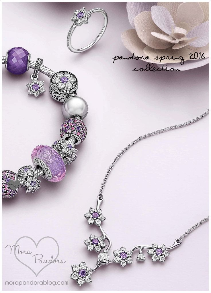 Pandora Spring 2016, purples and forget-me-nots