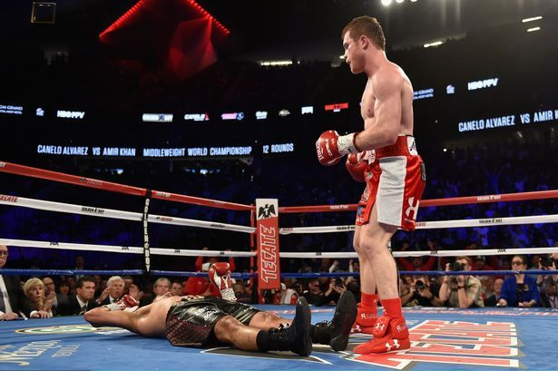 Amir Khan suffered a heavy knockout in his WBC middleweight title fight against Saul Canelo Alvarez