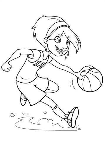 Schöne malvorlage Basketball auf Kids-n-Fun Ausmalen