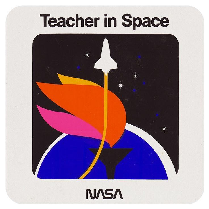 """Perry Brown (@madebackthen) on Instagram: """"Pre-launch decal promoting Christa McAuliffe as the first civillian teacher to """"travel into space""""…"""""""