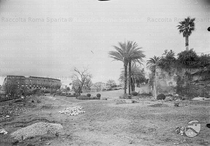 Foto storiche di Roma - Colle Oppio, sistemazione del Parco Anno: 1928