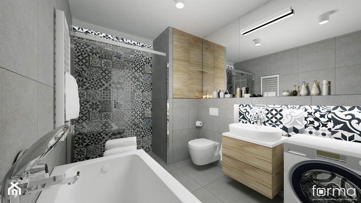 ŁAZIENKA - Średnia łazienka, styl eklektyczny - zdjęcie od FORMA - Pracownia Architektury Wnętrz i Krajobrazu - homebook