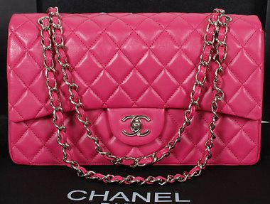 CN0007 Chanel Classic Flap Bag 1113 Rose Sheep Leather Silver Chain