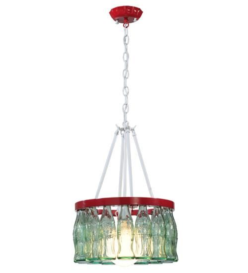 Meyda Tiffany Coca Cola 16 Bottle Chandelier, Get the coke bottles to make this chandelier at the EBay store The House of Vintage Love!