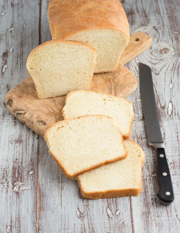 Simple White Bread you can bake yourself. Imagine your favorite PB&J on it!