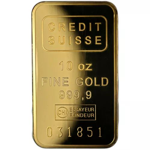 10 Oz Credit Suisse Gold Bar New W Assay In 2020 Credit Suisse Gold Bar