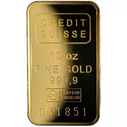 10 Oz Credit Suisse Gold Bar New W Assay In 2020 Credit Suisse Gold Bar