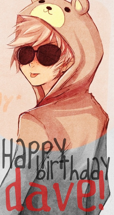 homestuck Dave Strider, I'm no fan of his but this is awedorable!!!----you're no fan of him??? EXCUSE ME. WHO ARE YOU?