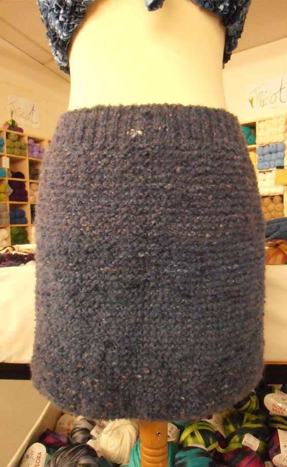 patron tricot jupe femme