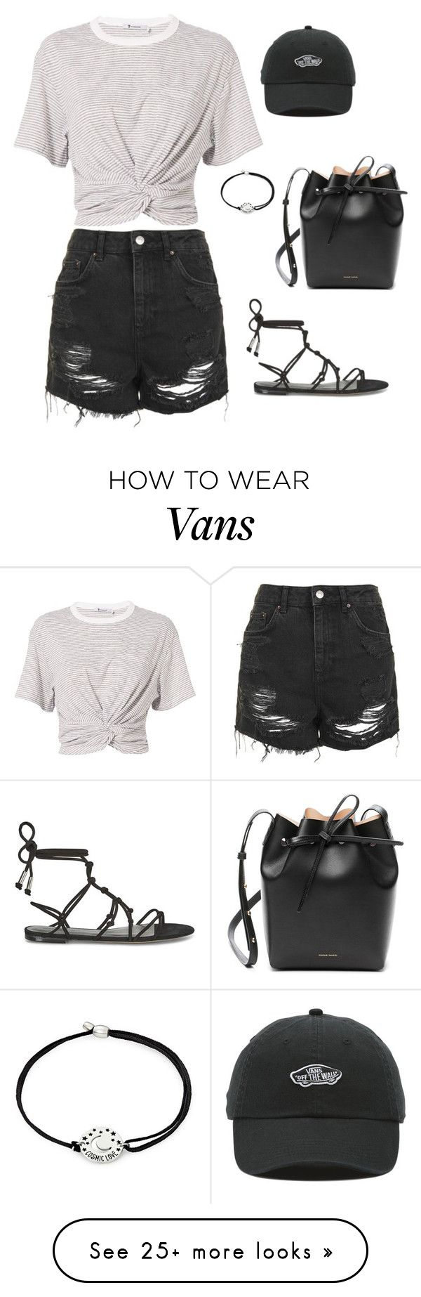 """Unbenannt #475"" by sina5439 on Polyvore featuring T By Alexander Wang, Topshop, Rebecca Minkoff, Alex and Ani, Vans and Mansur Gavriel"