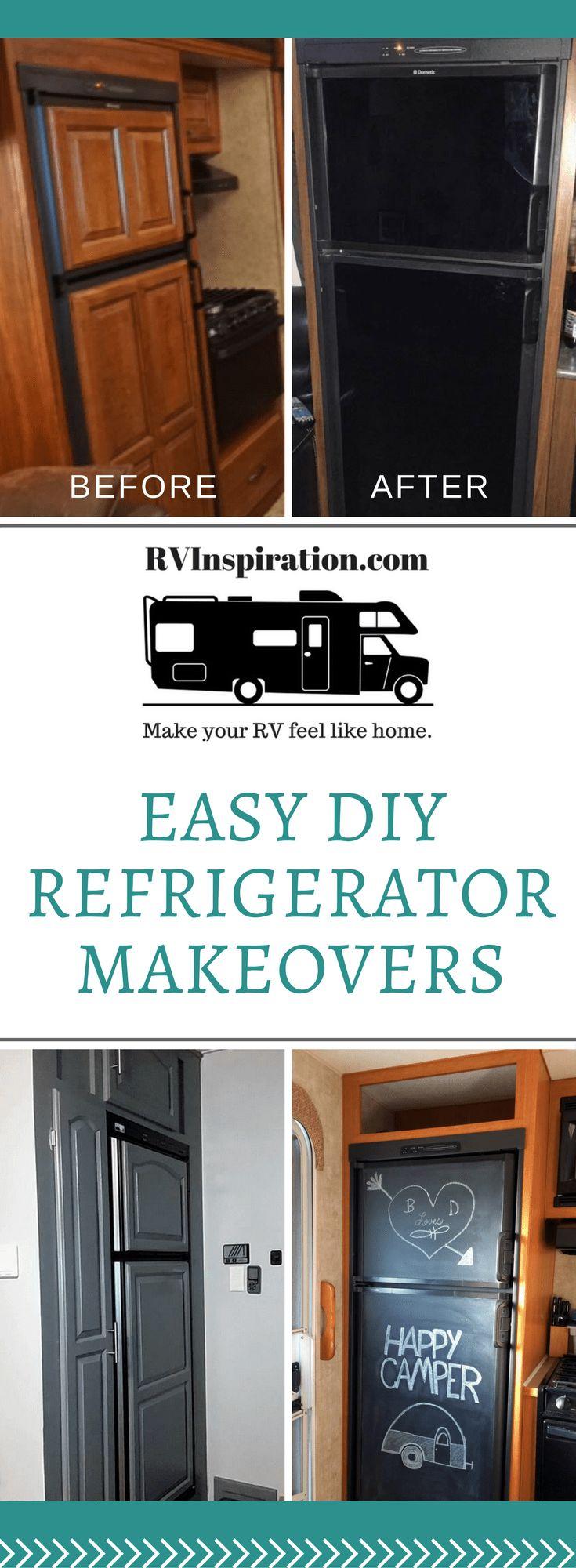 6 RV Refrigerator Makeover Ideas