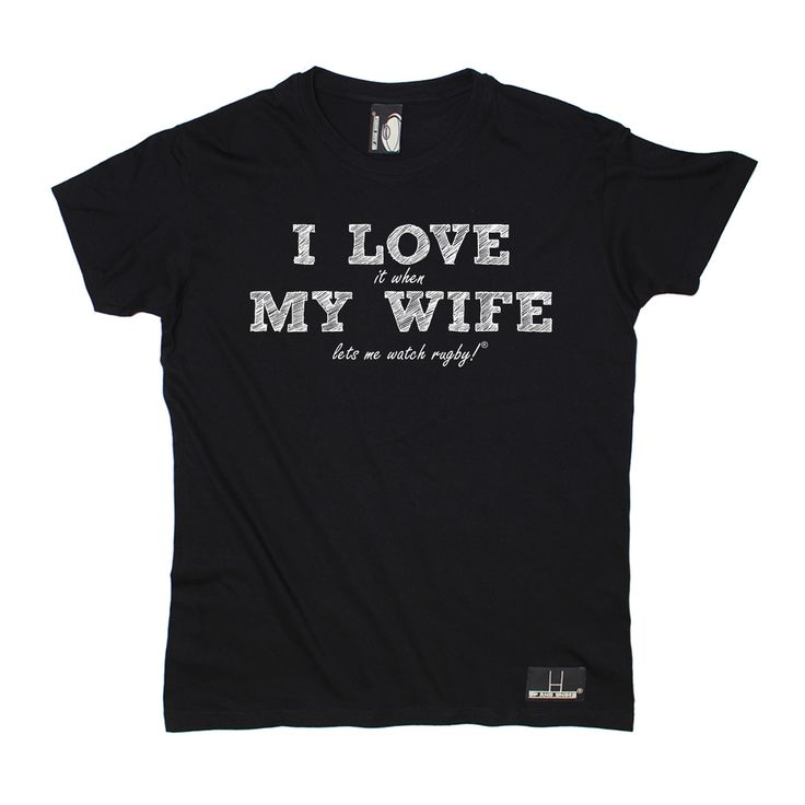 Up And Under Men's I Love It When My Wife Lets Me Watch Rugby T-Shirt