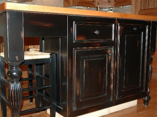 17 best ideas about black distressed furniture on for Antique painting kitchen cabinets ideas