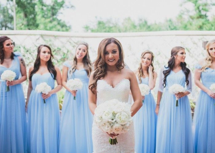 periwinkle tulle bridesmaid dresses