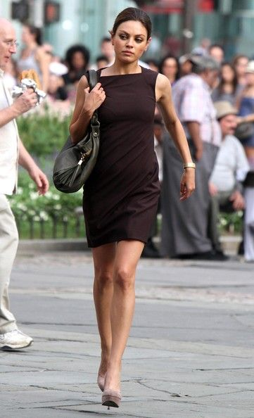 Mila Kunis films 'Friends with Benefits' in New York City, NY.