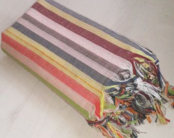 Beach Towel Peshtemal Cotton Towel Beach by zeytinhomedecor